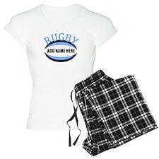 Rugby Add Name Light Blue pajamas