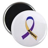 Support Bladder Cancer Ribbon Magnet