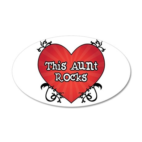 Tattoo Heart Aunt Rocks 20x12 Oval Wall Decal