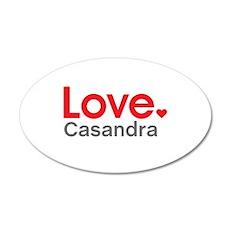 Love Casandra Wall Decal