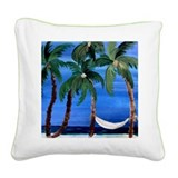 Hammock Palms Square Canvas Pillow
