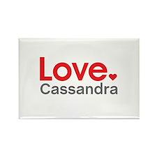 Love Cassandra Rectangle Magnet (10 pack)