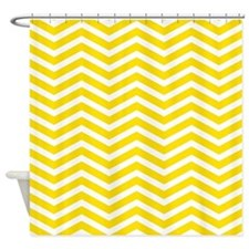 Yellow Zigzag Shower Curtain