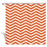 Orange Zigzag Shower Curtain