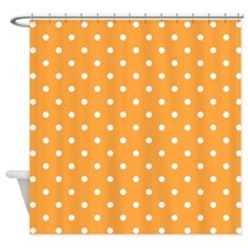 Orange and White Dot Design. Shower Curtain
