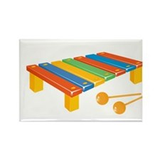 Xylophone Rectangle Magnet