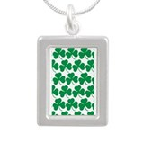 Irish Shamrock Repeater Pattern Silver Portrait Ne