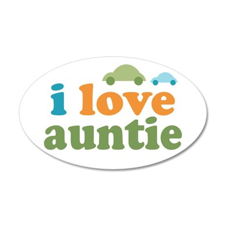 I Love Auntie 35x21 Oval Wall Decal