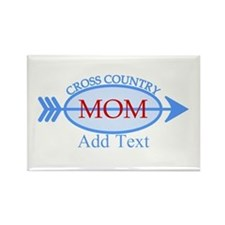 Cross Country Mom Blue Text Rectangle Magnet