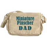 Miniature Pinscher Dad Messenger Bag