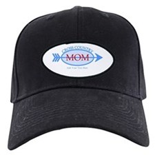 Cross Country Mom Blue Text Baseball Hat