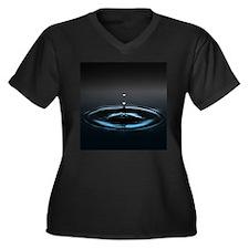 Water Drop image Plus Size T-Shirt