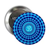 Turquoise Blue Yoga Mandala 2.25&quot; Button (10 pack)