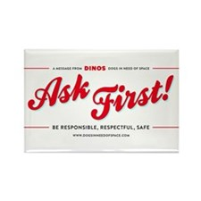 Ask First! Rectangle Magnet