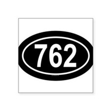 762 Oval Sticker