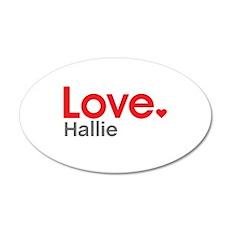 Love Hallie Wall Decal