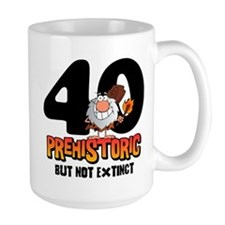 Prehistoric 40th Birthday Mug