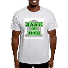 Bank of Dad Ash Grey T-Shirt