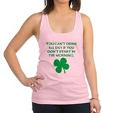 Start In The Morning Racerback Tank Top