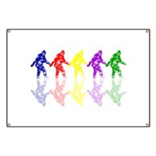 Artsy Colorful Crypto Bigfoot Banner