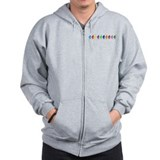 Ten Color Squatches Zip Hoodie