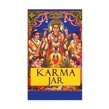 Karma Jar Tip Jar Rectangle Decal