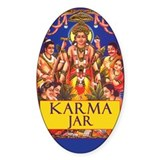 Tip Jar Oval Sticker Karma Jar
