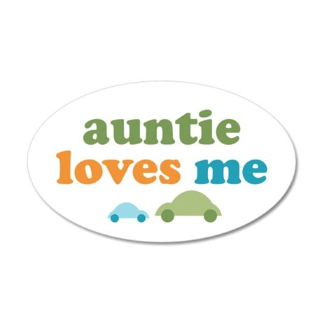 Auntie Loves Me 20x12 Oval Wall Decal