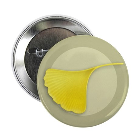 "Ginkgo Leaf 2.25"" Button (10 pack)"