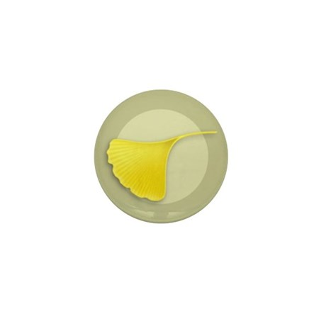 Ginkgo Leaf Mini Button