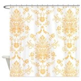 Gold Damask Shower Curtain