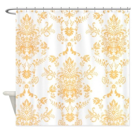 Gold Damask Shower Curtain By TheShowerCurtain