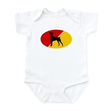 German Flag German Pinscher Infant Bodysuit