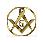 Masonic Vinyl Circle Oval Sticker