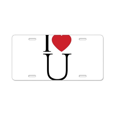 I HEART U.png Aluminum License Plate