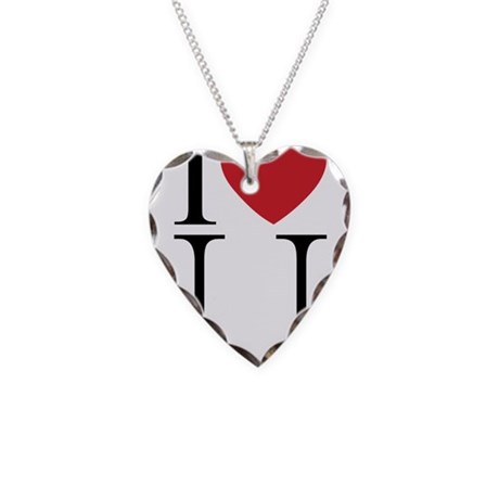 I HEART U.png Necklace with Heart Charm