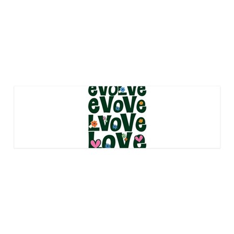 Evolve Love Green for Dark.png 36x11 Wall Decal 42x14 Wall Peel