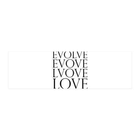 Evolve Love.png 36x11 Wall Decal 42x14 Wall Peel