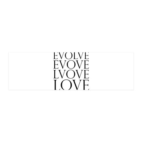 Evolve Love.png 20x6 Wall Decal 21x7 Wall Peel