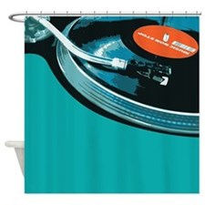 DJ Turntable Shower Curtain