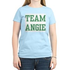 TEAM ANGIE  Women's Pink T-Shirt