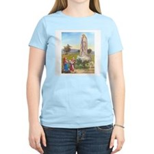 Our Lady of Fatima Women's Pink T-Shirt