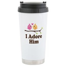 I Adore Him Ceramic Travel Mug
