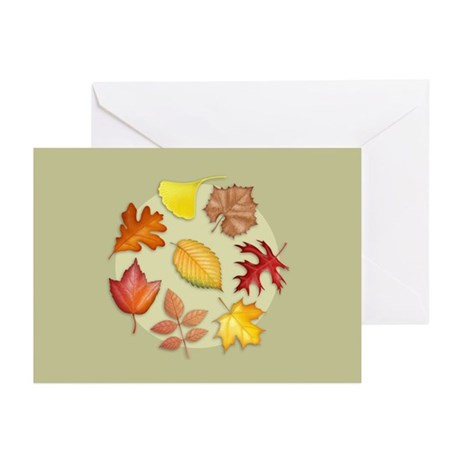 Leaves Greeting Cards (Pk of 10)