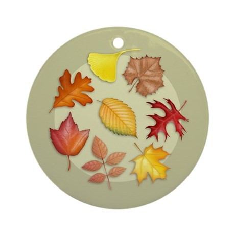 Leaves Ornament (Round)