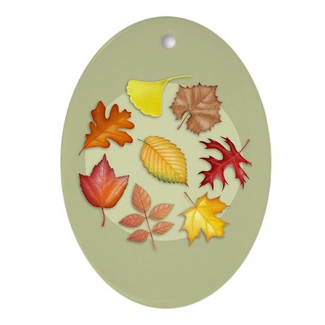 Leaves Oval Ornament