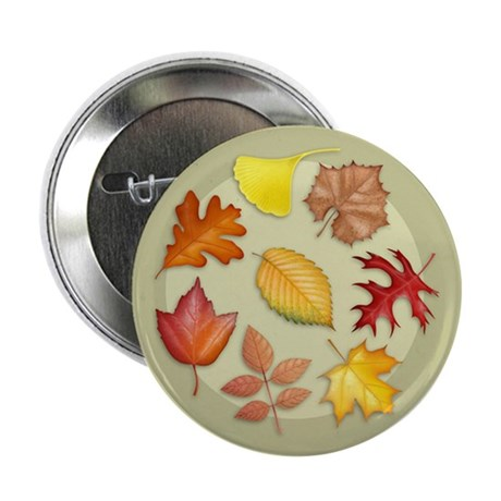 "Leaves 2.25"" Button (10 pack)"
