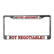 NOT NEGOTIABLE-2 License Plate Frame