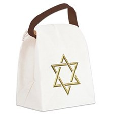 "Golden ""3-D"" Star of David Canvas Lunch Bag"