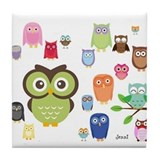 Cute Animals Tile Coaster